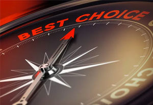 Image of a compass pointing to 'Best Choice'